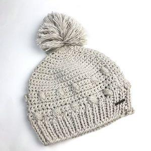 Prana Pammy Beanie Knit Pom Winter Hat